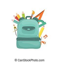 School backpack isolated