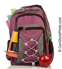 Backpack with school supplies - School Backpack with school...