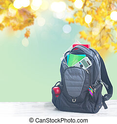 School backpack with supplies - School backpack full of...