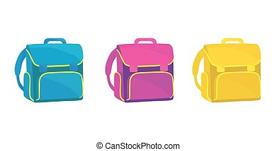school bag icon realistic on a white background.