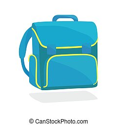 school bag icon realistic on a white background