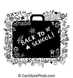 School bag sketch for your design
