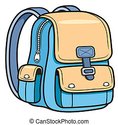 School bag - Vector illustration of school bag - Back to...