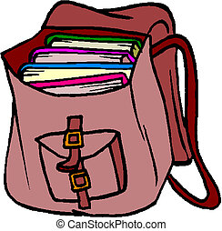 book bag backpack school bag with autumn leaves vectors rh canstockphoto ca book bag clipart black and white Stack of Books