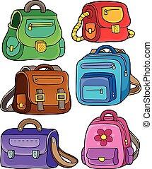 School bags theme set 1