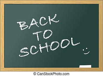 School blackboard back to school