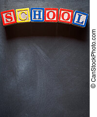 School blackboard background