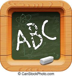School blackboard icon, vector Eps10 image