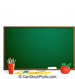 School blackboard - School related objects set