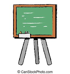 school blackboard with wood frame design
