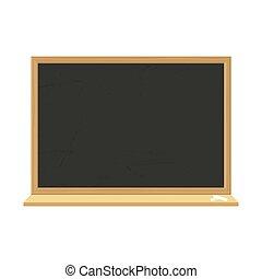 School blackboard with wooden frame. Dirty textured chalkboard.