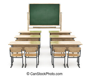 School board and school desks