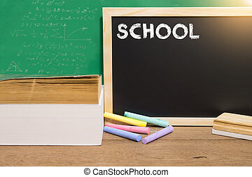 School board for education in classroom