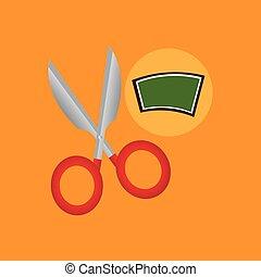 school board icon scissors design