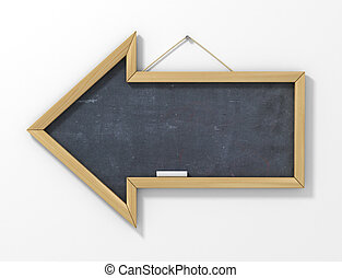 School board in the form of an arrow.