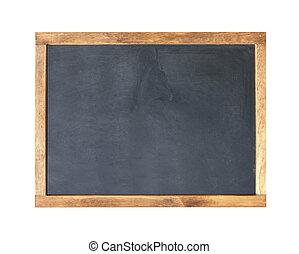 School board. Blank empty frame blackboard, with chalk...