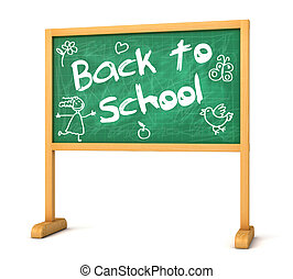 Back to School - School board with the words Back to School....