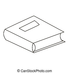 School book icon, outline style