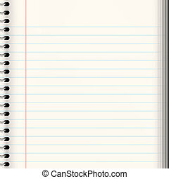 nice image of a book of ruled or lined paper