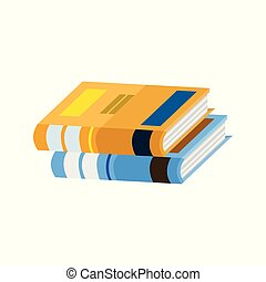 School Book Stack Illustration