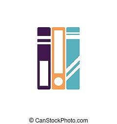 school books flat style icon