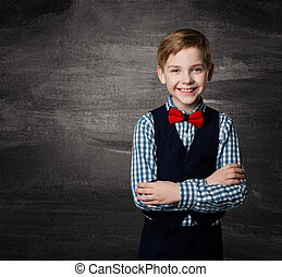 School Boy Child, Fashion Student Kid Blackboard