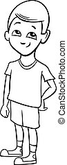 school boy coloring page
