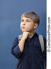School Boywith Backpack