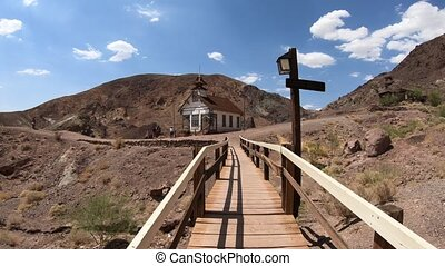 School Bridge and Calico Chapel - School bridge and chapel...