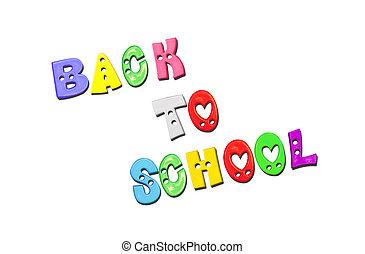 school, brieven, back, kleurrijke