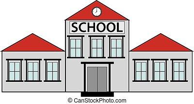 School building. Back to school illustration.