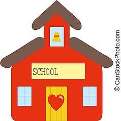 School building cartoon Vector illustration eps 10