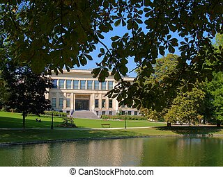 School building in Brussels park. - School of Dentistry in ...