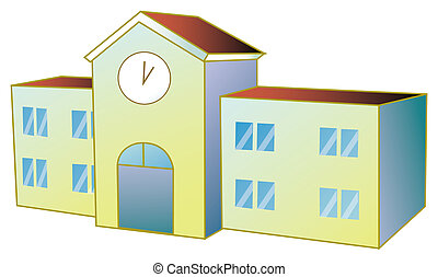 School building - a nice drawing of school buiding with...