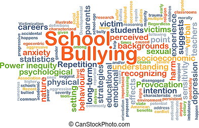 School bullying background concept