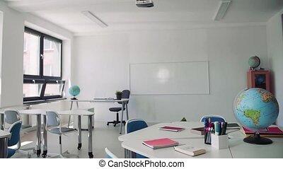 school., bureau, particulier, classoom, globe,...