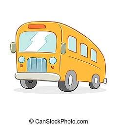 School Bus - Vector illustration of a school bus