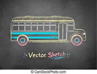school, bus.
