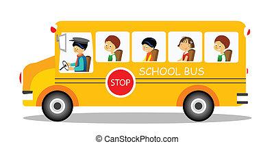 school bus - School bus on its way