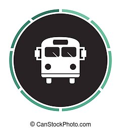 School Bus computer symbol