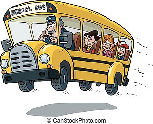school bus - School bus on white background vector...