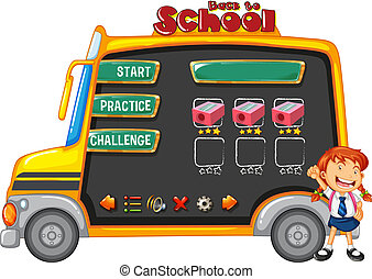 School bus game template