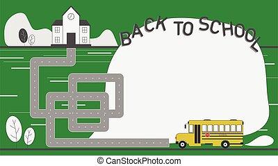 School bus head to school