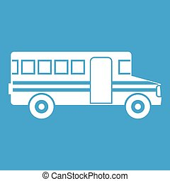 School bus icon white