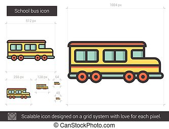 School bus line icon.
