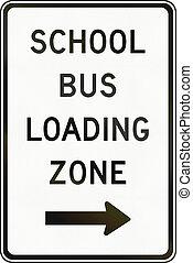 School Bus Loading Zone in Canada