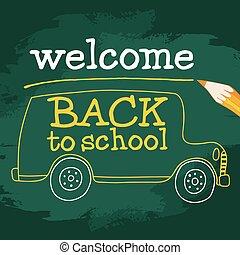 school bus on the board