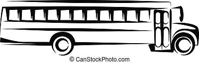 School bus  - Simple vector illustration of a school bus