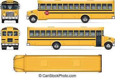 School bus vector mockup
