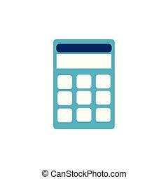 school calculator flat style icon